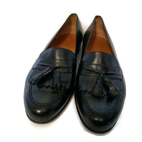 SALVATORE FERRAGAMO SHOE BLACK LEATHER TASSEL 11.5